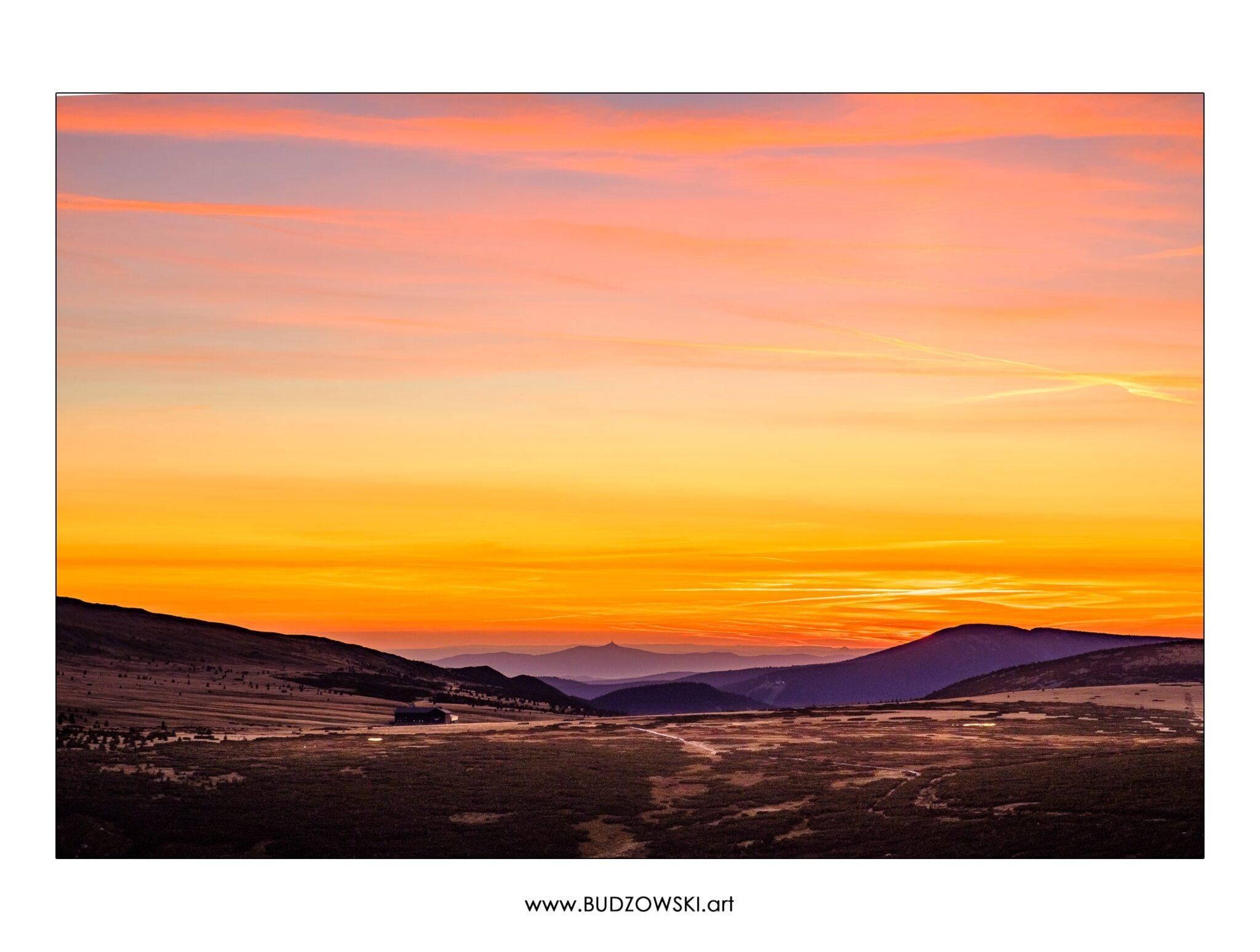 Zachód słońca w Karkonoszach